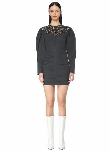 Etoile Isabel Marant Isabel Marant  Yaka Detaylı Karpuz Kol Mini Elbise 101640742 Lacivert